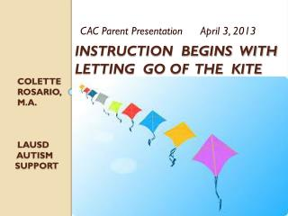 Instruction  Begins  With  Letting  Go of  The  Kite