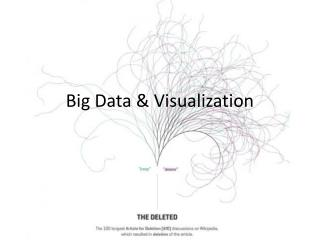 Big Data & Visualization