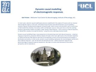 Dynamic causal modelling  of  electromagnetic responses