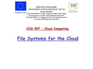 File Systems for the Cloud
