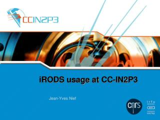 iRODS  usage  at  CC-IN2P3