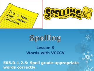 Lesson  9   Words with VCCCV