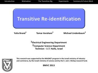 Transitive Re-identification