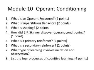 operant conditioning and superstitions