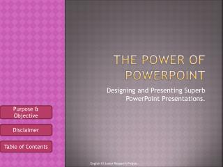 The power of PowerPoint