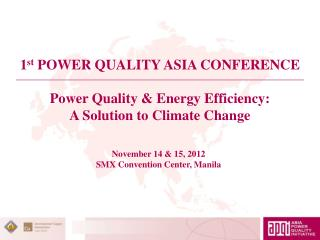 Power Quality & Energy Efficiency: A Solution to Climate Change