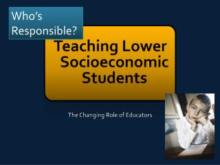 Teaching Lower Socioeconomic Students