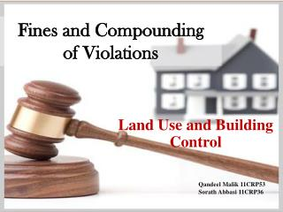 Fines and Compounding  of Violations