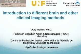 Introduction to  different brain  and  other clinical imaging methods