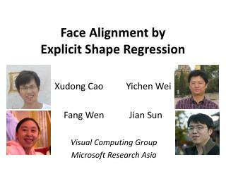 Face Alignment by  Explicit Shape Regression