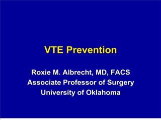 VTE Prevention