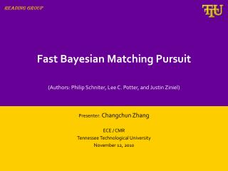 Fast Bayesian Matching Pursuit