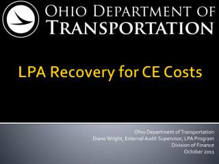 LPA Recovery for CE Costs