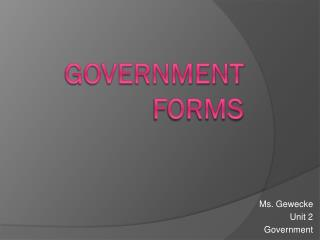 Government Forms