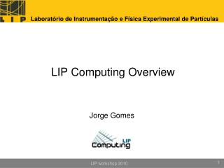 LIP Computing  Overview