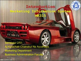 Introduction Marketing Information System MK315
