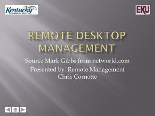 Remote Desktop Management