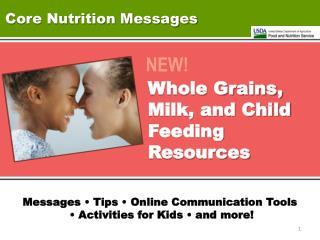 Core Nutrition Messages