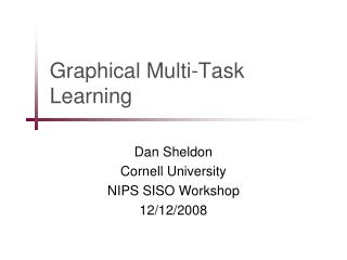 Graphical Multi-Task Learning