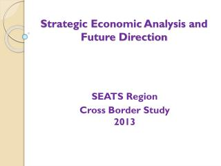 Strategic Economic Analysis and Future Direction