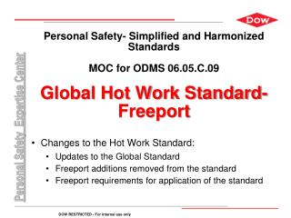 Changes to the Hot Work Standard: Updates to the Global Standard