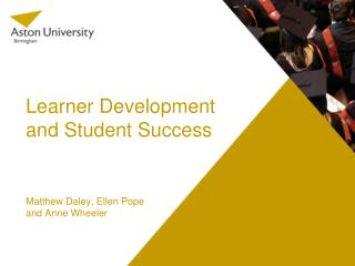 Learner Development and Student Success