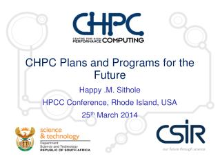 CHPC Plans and Programs for the Future