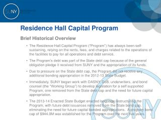 Residence Hall Capital Program