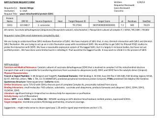MPP OUTSIDE REQUEST FORM Written:                           1/20/12 Requestor Reviewed:
