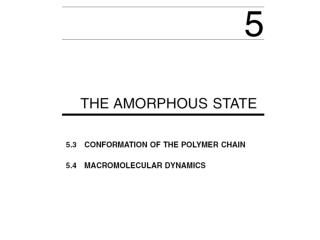 Conformation of polymers