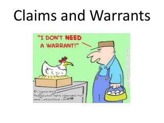 Claims and Warrants
