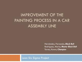 Improvement of the Painting Process in a Car Assembly Line