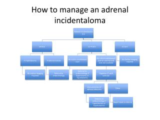 How to manage an adrenal  incidentaloma