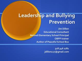 Leadership and Bullying Prevention