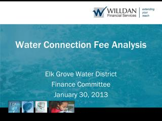 Water Connection Fee Analysis