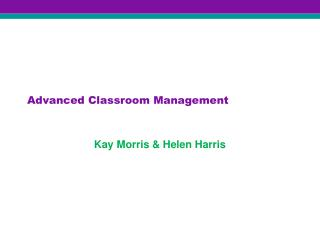 Advanced Classroom Management
