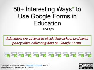 50+  Interesting Ways *  to Use Google Forms  in Education
