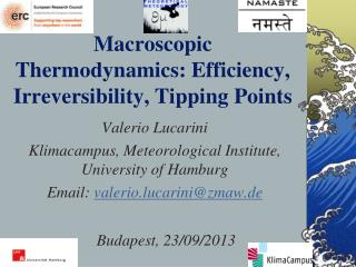 Macroscopic Thermodynamics: Efficiency, Irreversibility, Tipping Points