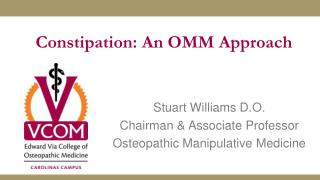 Constipation: An OMM Approach