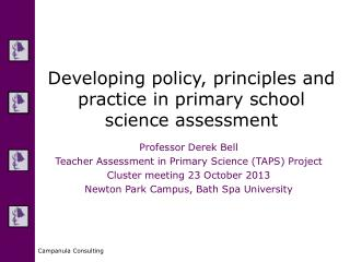 Developing policy, principles and practice in primary school science assessment