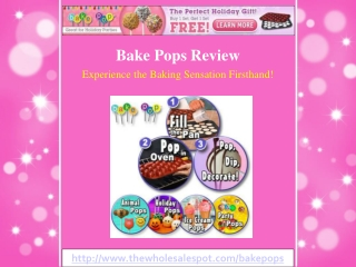Bake Pops Exclusive 2-For-1 Offer