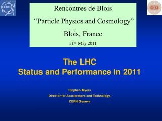 The LHC Status and Performance in 2011