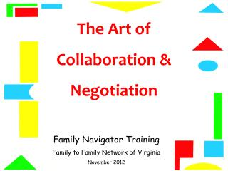 The Art of  Collaboration & Negotiation