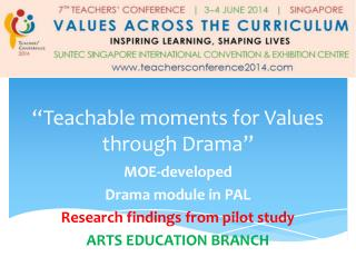 """Teachable moments for Values through Drama"""