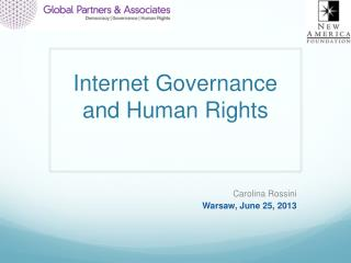 Internet Governance and Human Rights