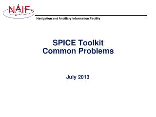 SPICE Toolkit Common Problems