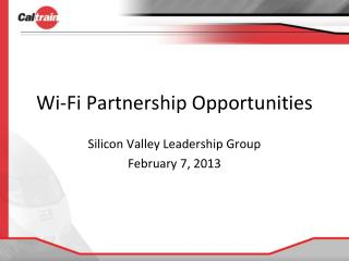 Wi-Fi Partnership Opportunities