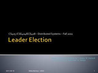Leader Election