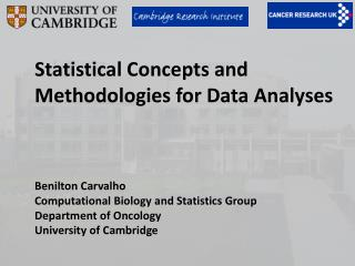 Statistical Concepts and Methodologies for Data Analyses