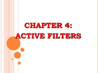 CHAPTER 4: ACTIVE FILTERS